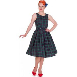 Dolly and Dotty Green Tartan Plaid Dress